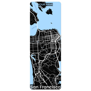 San Francisco Map Yoga Mat