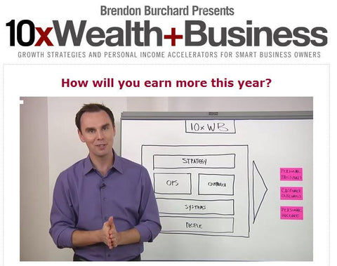 Brendon Burchard - 10x Wealth and Business Full Course