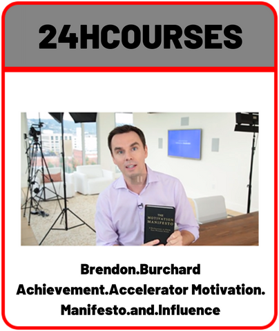 Brendon Burchard-Achievement Accelerator Motivation Manifesto and Influence