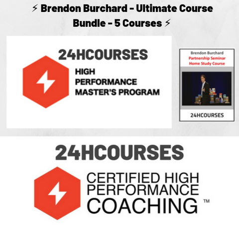 ⚡️ Brendon Burchard - Ultimate Course Bundle - 3 Courses ⚡️