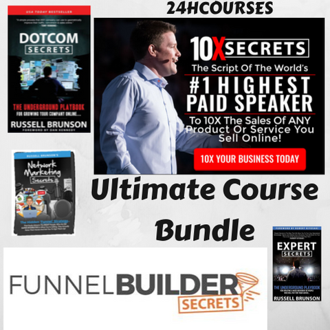 ⚡️  Russell Brunson - Ultimate Course Bundle - 5 Courses ⚡️