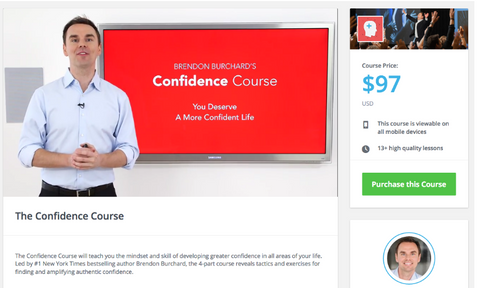 The Confidence Course – Brendon Burchard - Complete Course Including PDF's