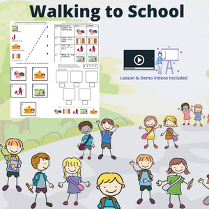 Walking to School with 8 Activities & 1 Video