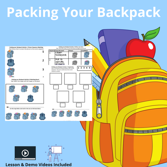 Packing Your Backpack with 8 Activities and 1 Video