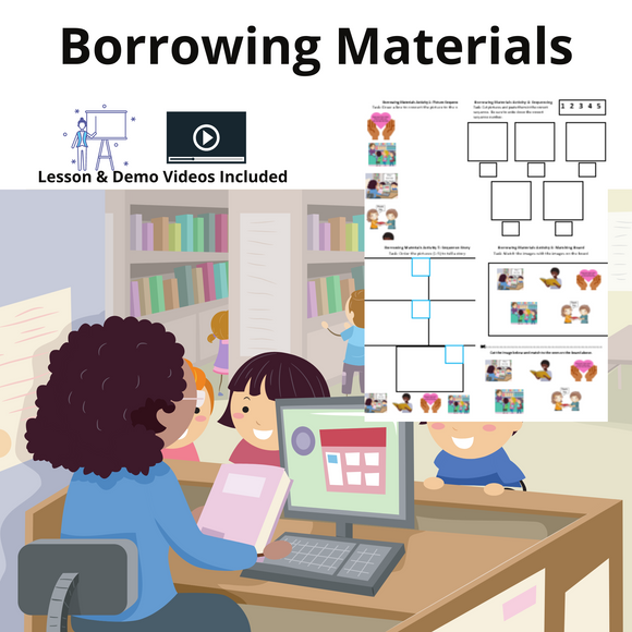 Borrowing Materials with 8 Activities & 1 Video