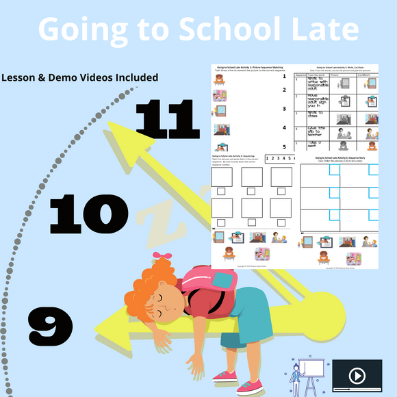 Getting to School Late with 8 Activities & 1 Video