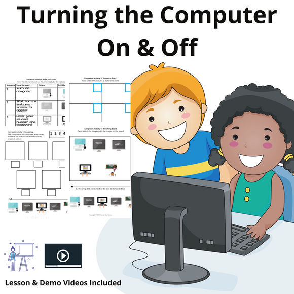 Turning the Computer On/Off with 8 Activities & 1 Video