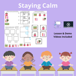 Staying Calm in Class with 1 Video & 8 Activities
