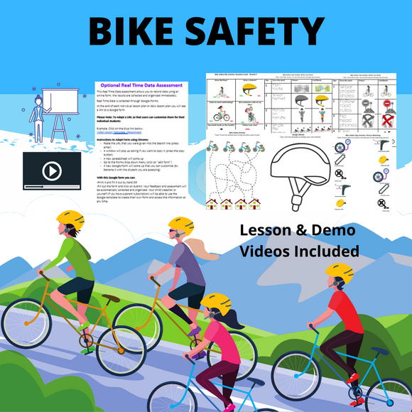 Bike Safety with 8 Activities & 2 Videos