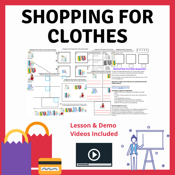 Shopping for Clothes with 2 Video Lessons & 8 Activities