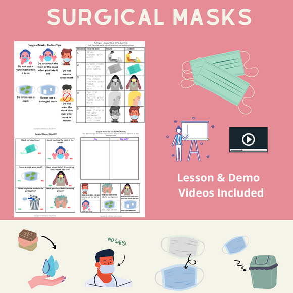 Surgical Masks with 5 Activities & 2 Videos