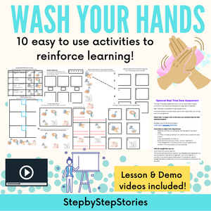 Washing Your Hands with 2 Video Lessons & 10 Activities