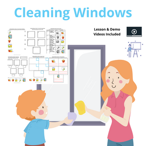 Cleaning the Windows with 2 Video Lessons & 8 Activities