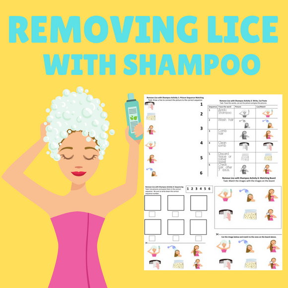 Removing Lice with Shampoo with 8 Activities