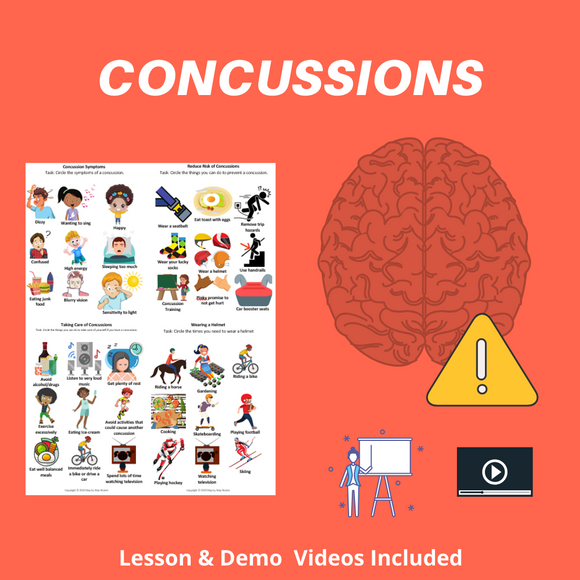 Concussions with 5 Activities & 2 Videos