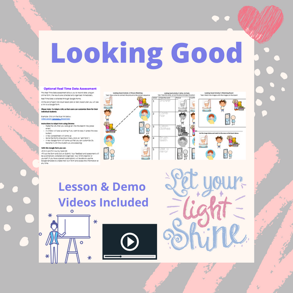 Looking Good with 2 Video Lessons & 4 Activities