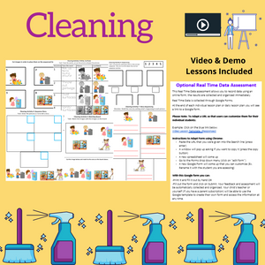 Cleaning with 2 Videos & 8 Activities