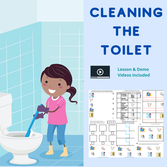 Cleaning the Toilet with 8 Activities & 1 Video