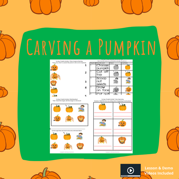 Carving a Pumpkin with 8 Activities & 1 Video