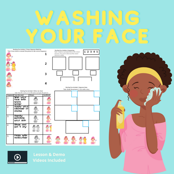 Washing Your Face with 8 Activities & 1 Video