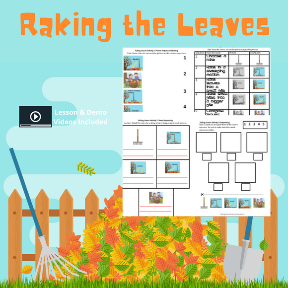 Raking the Leaves with 8 Activities & 1 Video