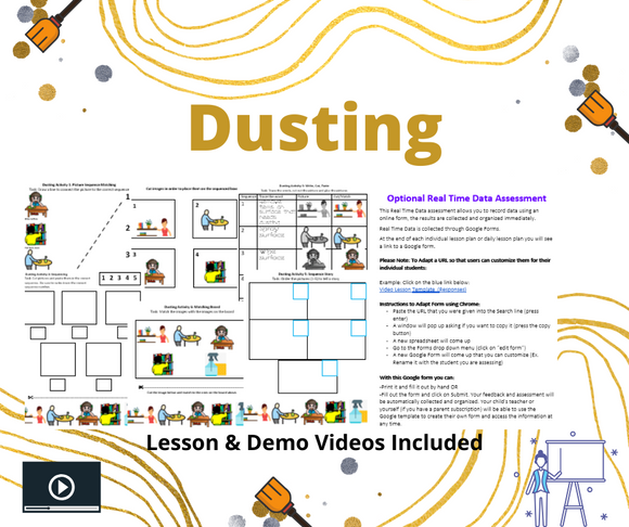 Household Care: Dusting with 2 Videos & 8 Activities