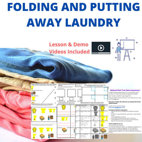 Folding and Putting Away Laundry with 2 Videos & 8 Activities