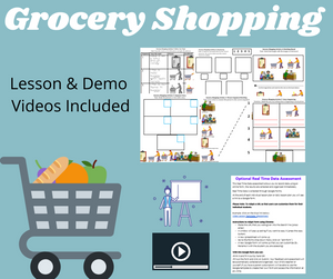 Grocery Shopping with 2 Videos & 8 Activities