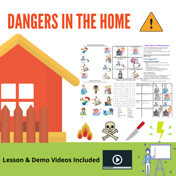Dangers in the Home with 8 Activities & 2 Videos