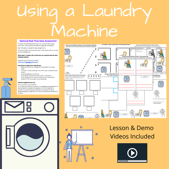 Using the Laundry Machine with 2 Videos & 8 Activities