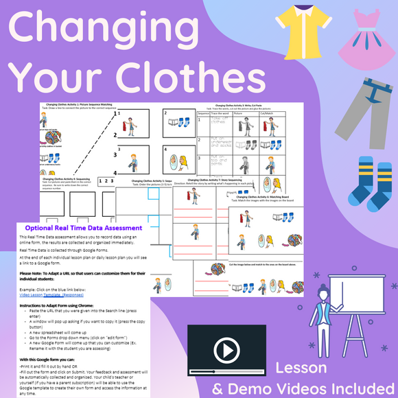 Changing Your Clothes with 2 Videos & 8 Activities