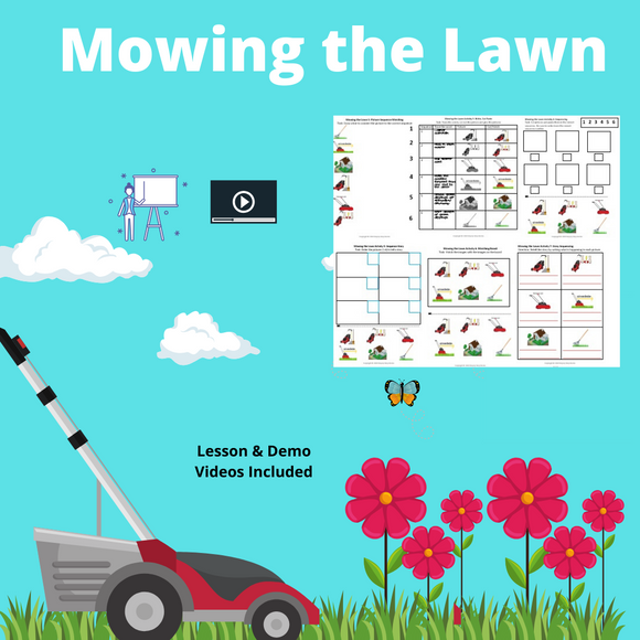 Mowing the Lawn with 2 Video Lessons & 8 Activities