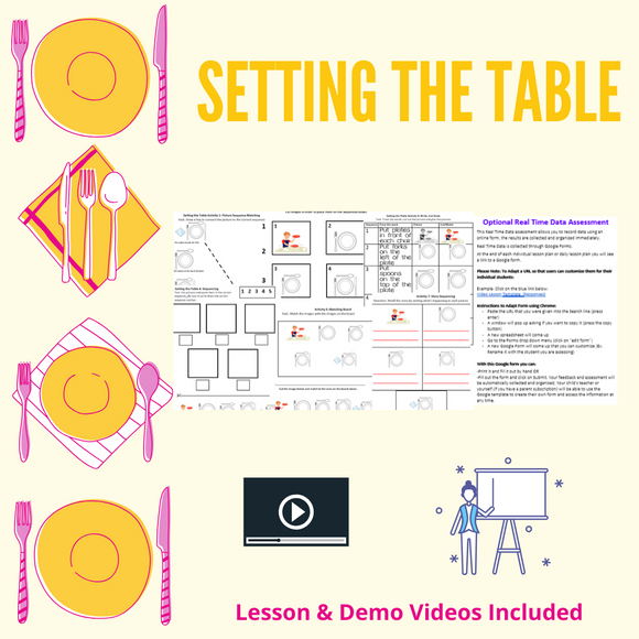 Setting the Table with 2 Videos & 8 Activities