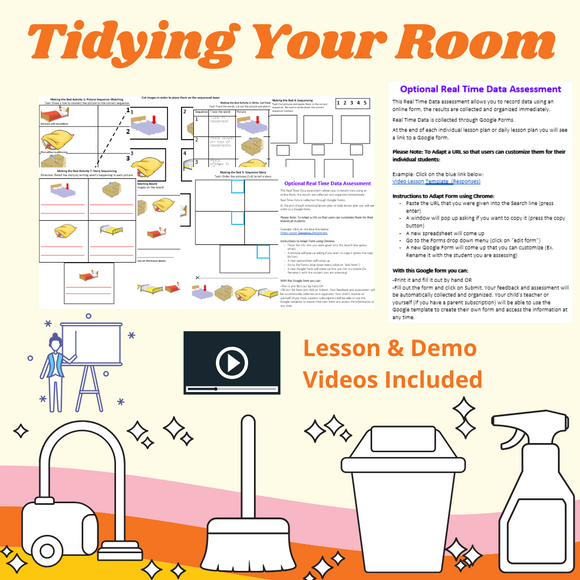 Keeping Your Room Tidy with 2 Video Lessons & 8 Activities