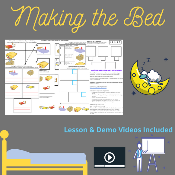 Making the Bed with 2 Video Lessons & 8 Activities