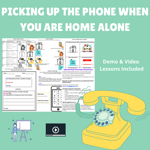 Home Alone: Phone Calls with 2 Videos & 5 Activities