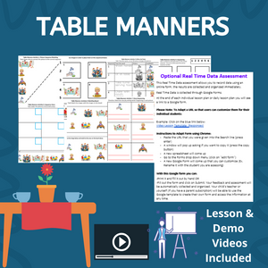 Table Manners with 2 Videos & 8 Activities