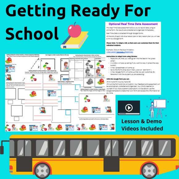 Getting Ready for School with 2 Videos & 8 Activities