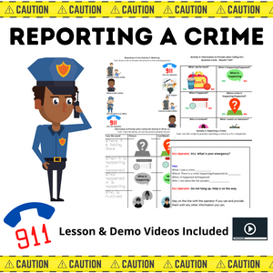 Reporting a Crime with 6 Activities & 2 Videos