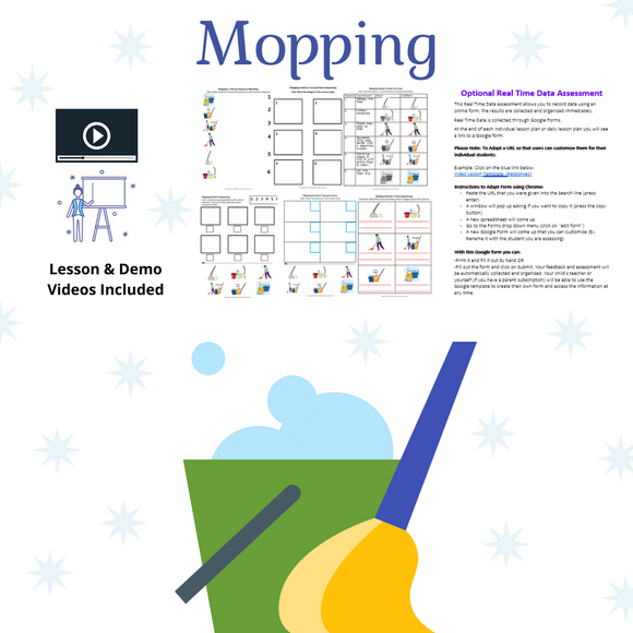Mopping with 2 Video Lessons & 8 Activities