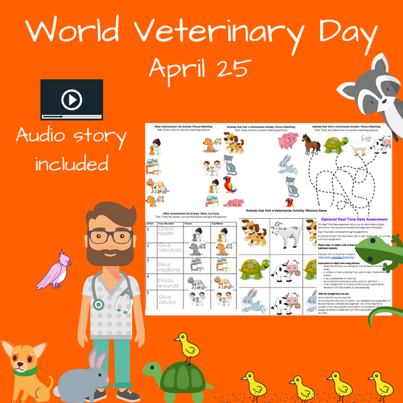 World Veterinary Day with 1 Video & 5 Activities