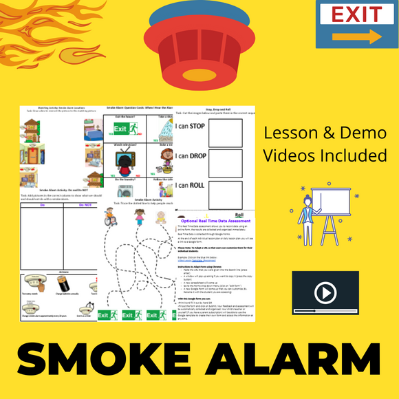Smoke Alarm with 2 Videos & 5 Activities