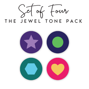 Jewel Tone Shapes Pack <br / ><p>$10.00 each</p>