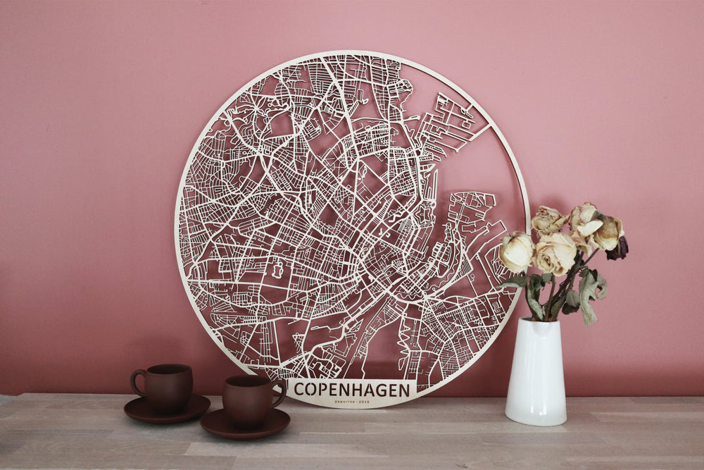 Wooden citymap is an absolute eye-catcher of your interior