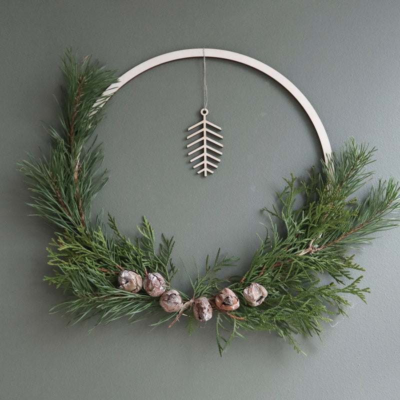 Christmas decor, pine sprig 3 pcs
