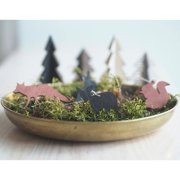 Christmas decor, animals of the forest 2 pcs