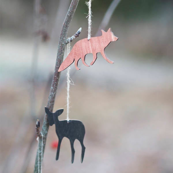 Animals of the forest for christmas tree
