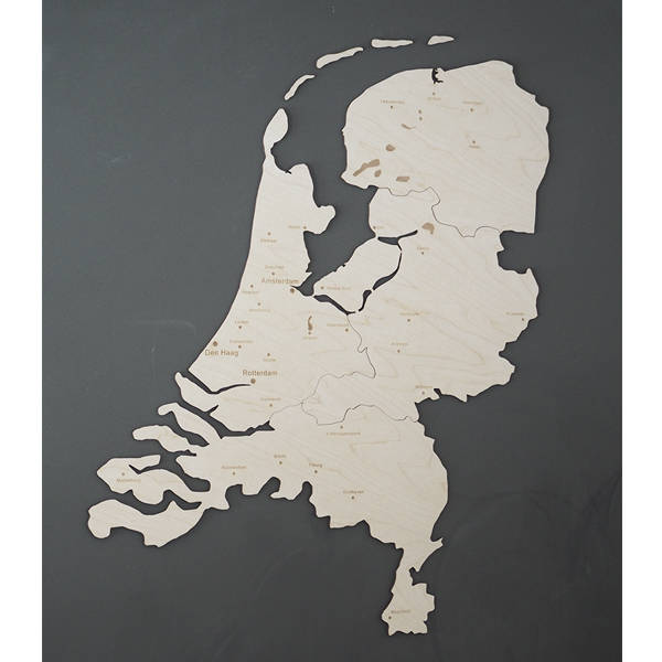 Wooden map of Holland