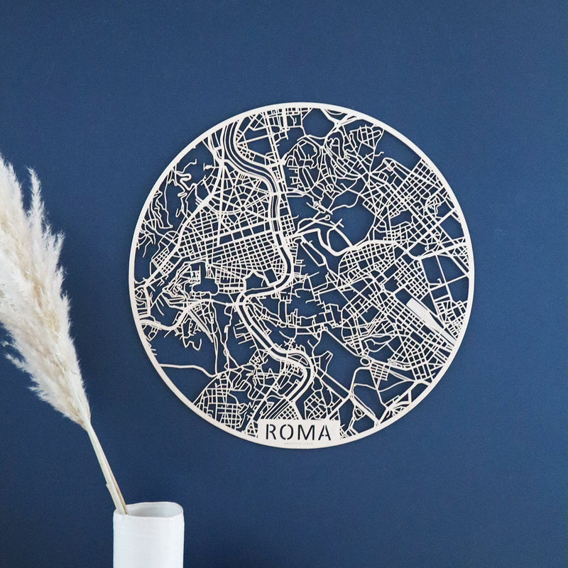 Wooden map of Roma