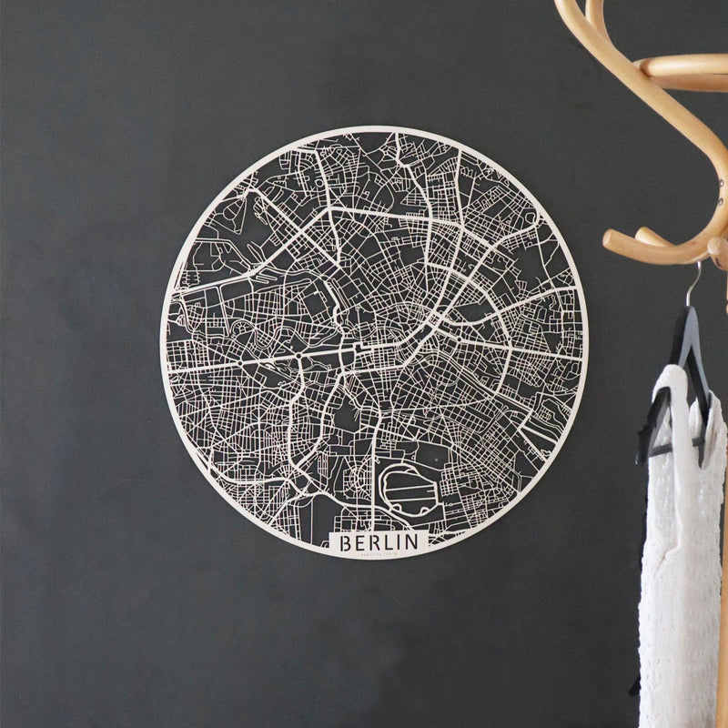 Wooden map of Berlin